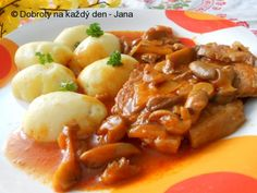 Pikantní vepřové kotlety Czech Recipes, Ethnic Recipes, Meat Recipes, Recipies, Stew, Macaroni And Cheese, Food And Drink, Pork, Chicken