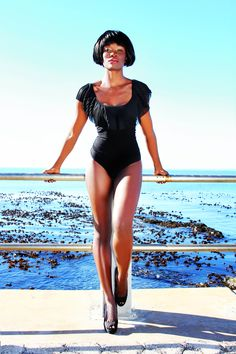 Model, Kenyan, Cape Town, Grace models, beauty, bodysuit. Photographer: Tegan Smith