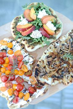 Grilled Pizzas, Three Ways