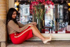 Kokerrok Helen Vuurrood Wedges, Blouse, Model, Shoes, Fashion, Moda, Zapatos, Shoes Outlet, Wedge