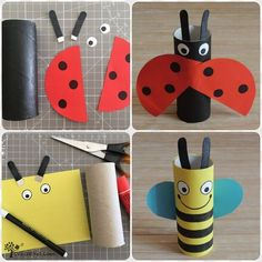 Fun Projects For Kids, Diy For Kids, Crafts For Kids, Toilet Roll Craft, Toilet Paper Roll Crafts, Toddler Learning Activities, Art Activities For Kids, What The Ladybird Heard Activities, Zoo Animal Crafts