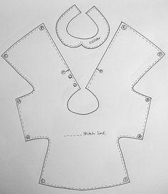 Уж и не помню, где на просторах интернета нашла такое платьице, шить его очень просто. А самое главное по этой выкройке может получиться аб...