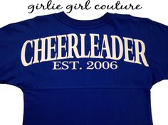 Custom Glitter Cheerleader Spirit Jersey by GirlieGirlCouture