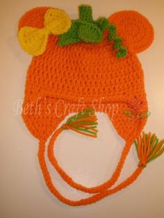 Minnie and Mickey Mouse Pumpkin Halloween Crochet Hats | eBay