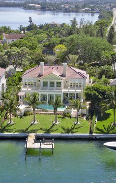 Florida Georgian Style Waterfront Home