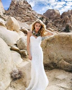 Boho inspiration in Joshua Tree. Creativ collab with Kacie Q Photography Mac's Floral and ti adora by Alvina Valenta ! MT Crew wandering the desert / Ti Adora gown Style 7552