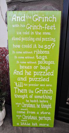 The Grinch Wood & Vinyl Plaque - craftyourself.com