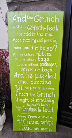 The Grinch Wood & Vinyl Plaque - craftyourself.com