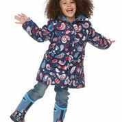 2 coats in 1 and machine washable. Kids Boots, Rain Boots, Rain Gear, Outdoor Gear, Little Ones, Paisley, Comfy, Birds, Bird