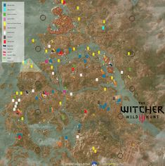 13 Best Witcher 3 Map images   Map, The witcher, Wild hunt