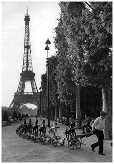 La cavalerie du Champs de Mars Paris, June 1969 by Robert Doisneau