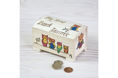 Owls Family Personalised Money Box