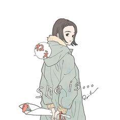 衣替え ( she is ... ねぇ )  #illustration #artwork #drawing