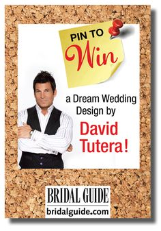 David Tutera and Bridal Guide! I would LOVE to work with David Tutera for my dream wedding :) Wedding Events, Our Wedding, Dream Wedding, Wedding Stuff, Weddings, Wedding Pins, Wedding Photos, Forest Wedding, Wedding Locations