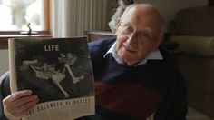 PLEASE SHARE: Today is star of the Honor Flight film and WWII veteran Joe Demler's birthday, he turns 87. Here he is holding a photo of himself from LIFE magazine shortly after being liberated from a Nazi prison camp in 1945. The photographer, John Florea, noted: