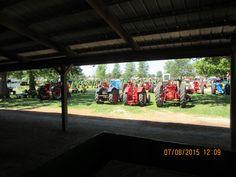 Old Farmall tractors in Tipton