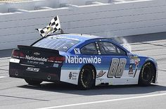 Dale Earnhardt Jr. held the pack at bay to take his first win of the 2015 NASCAR Sprint Cup season at Talladega. RACER.com