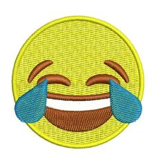 Cry Laughing iPhone Emoji Iron-On Patch