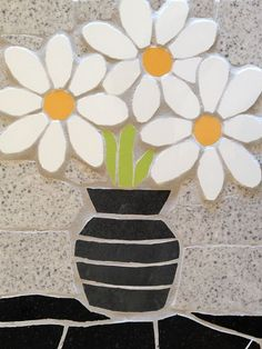 A vase of daisies mosaic for you