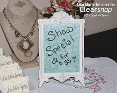 Lisa Marie showed how to make this pretty Craft Show Sign using Glass Graffiti. Click on the image for the tutorial! | Clearsnap Blog