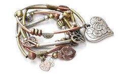 Hearts Of Fire. Set of 5 7 Bracelets#Repin By:Pinterest++ for iPad#