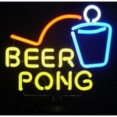 Beer Pong Cup Neon Sign