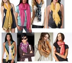 THE MANY WAYS TO WEAR A SCARF