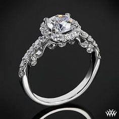 Verragio Half Eternity Halo Diamond Engagement Ring...pretty!