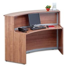 Laminate Curved Reception Desk - 72W x 30D | OfficeFurniture.com