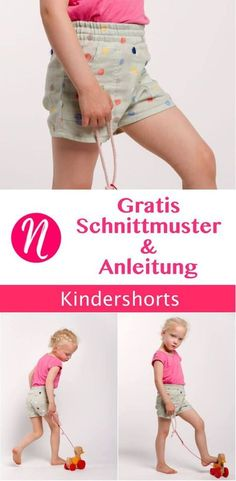 Einfache Shorts 106 - 112 Free sewing pattern for boys & girls shorts in size 106 - 112.