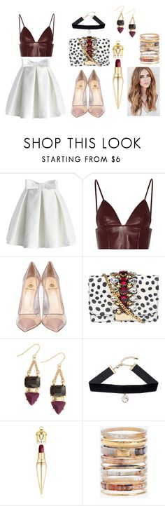 """""""Come & Kiss Me"""" by hien-anhhs on Polyvore featuring Chicwish, T By Alexander Wang, Semilla, GEDEBE, H&M, Christian Louboutin and Ashley Pittman"""
