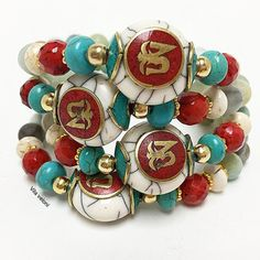 Bracelet By Vila Veloni Beautiful Kingdom Stone With Multicolor Pellets