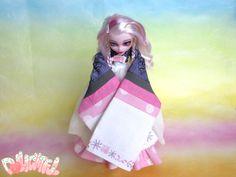 Custom OOAK Batsy Claro Monster High Korean Hanbok Doll 인형 리페인팅 한국 한복 노리개 by Dollightful