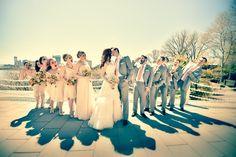 #bridalparty #wedding #kiss #marriage #bigday #photography #anthonyziccardistudios