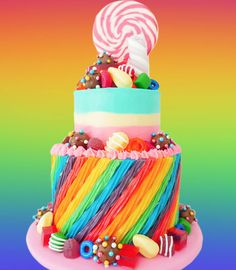 Twizzler Candy Crush Cake - Cake by HowToCookThat Candy Crush Party, Candy Crush Cakes, Candy Cakes, Cupcake Cakes, 16 Birthday Cake, 9th Birthday Parties, Candy Models, Sweet 16 Parties, Candyland