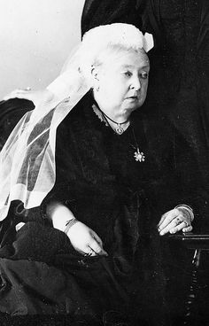 Queen Victoria near the end of her life.  She was the last British monarch of the House of Hanover (her son King Edward VII belonged to the House of Saxe-Coburg and Gotta, the line of his father, Prince Albert).