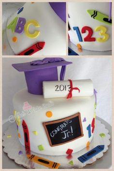 Kindergarten grad cake.
