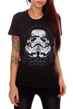 Star Wars Stormtrooper Sugar Skull Girls T-Shirt
