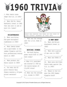 graphic relating to 1950 Trivia Questions and Answers Printable known as 9 Most straightforward Trivia visuals in just 2016 Trivia online games, American video games