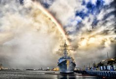 Pearl Harbor, Hawaii, Arc En Ciel, Navire, Marine