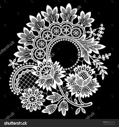 Lace Cipcle Frame Vector - 368614412 : Shutterstock