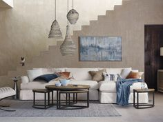 Love the coffe table(s) Palmer Round Nesting Coffee Table in Bali Brown Arhaus Space Saving Furniture, Cool Furniture, Furniture Design, Living Room Sofa, Living Room Furniture, Living Spaces, Round Nesting Coffee Tables, Contemporary Cabinets, Sectional Slipcover