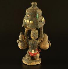 Ethnic Fetish Object, Cowrie shells #1185 | Fetish | Artifacts — Deco Art Africa - Decorative African Art - Ethnic Tribal Art - Art Deco