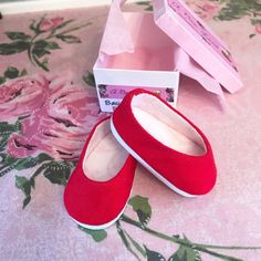 """Debs RED Canvas Tennis Sneaker 3eyelets Doll Shoes For 18/"""" American Girl Dolls"""
