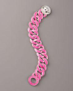 Enamel-Coated Katie Turnlock Bracelet, Pink - Neiman Marcus