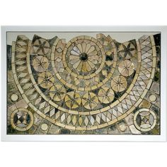 Mosaic tiles from Byland Abbey.  Medieval, 13th century AD. From North Yorkshire, England