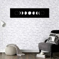 Metal Wall Art - Moon Phases - Interior Decoration - Home Decor - Steel Art - Interior Deco