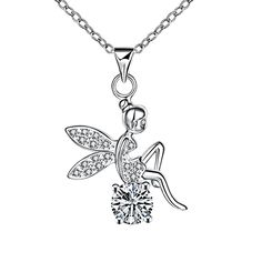 50% Off Angel Necklaces & Pendants For Neck Chain With A Large Stone Pendant Suspension Long Necklace Collar Jewelry Gift SPN070 #Affiliate