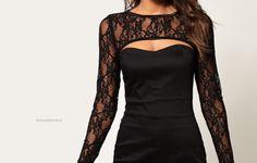 beautiful black laced dress
