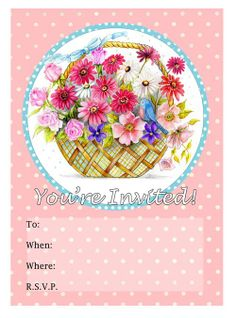 Free printable Afternoon/ Morning Tea invitations. 2 designs to choose from and matching notepaper